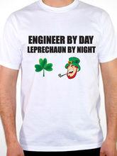 T Shirt Website Premium Men Engineer By Day Leprechaun Engineering Fun O-Neck Short-Sleeve Tee Shirts