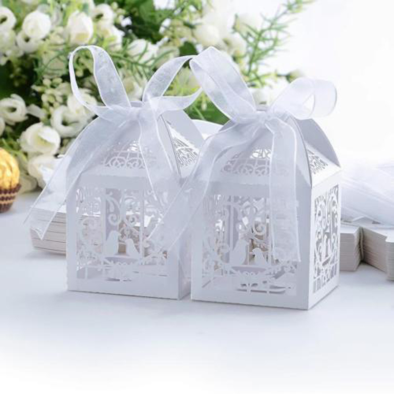 Good Value 1050100pcs Luxury Wedding Favour Favor Sweet Cake Gift