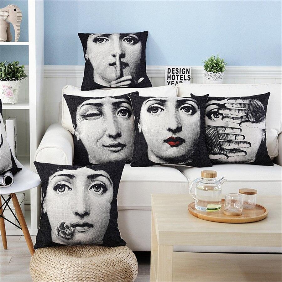 ZXZXOON Lip girl home textile pillow case cover for sofa home square cushion cover capa de almofadas 45x45cm pillow case cover capa de almofadacover for sofa cushions - AliExpress