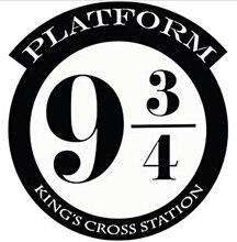 HARRY POTTER PLATFORM 9 3/4 KINGS CROSS CUT VINYL WALL ART STICKER / DECAL