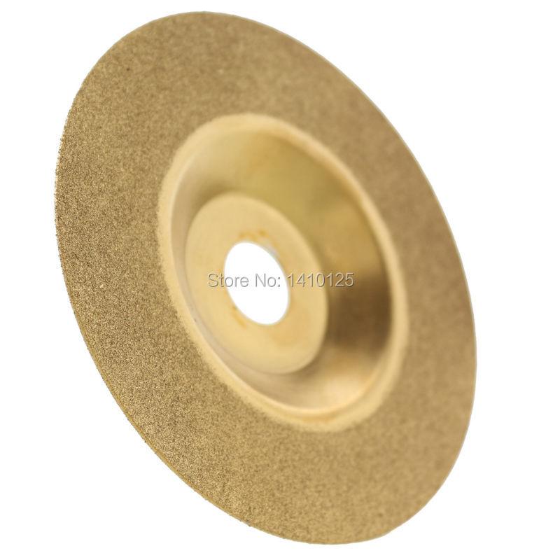 5/8mm 4 pulgadas diamante recubierto de titanio disco de molienda convexo para amoladora angular Arbor agujero 16mm 100