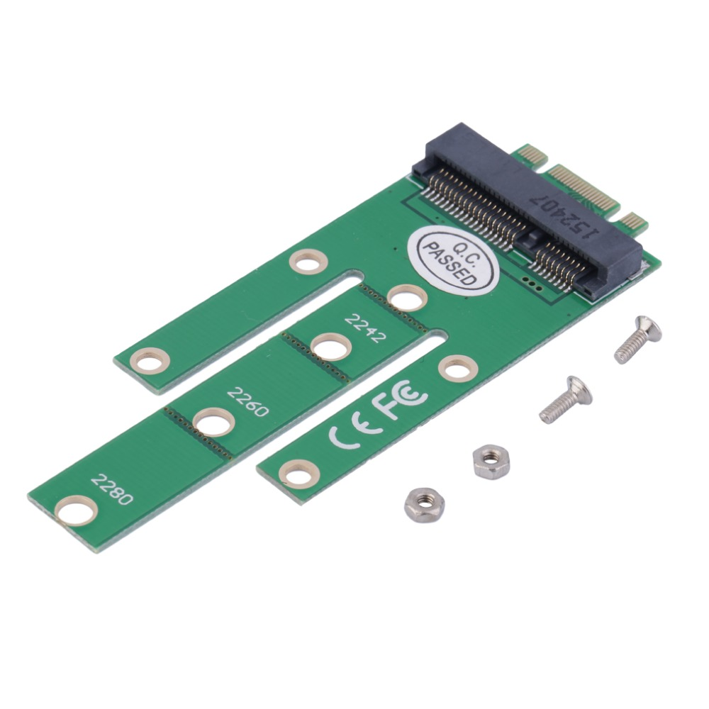Green NGFF M2 B SATA-Based Solid State Drives to MSATA Adapter Converter Card for Windows for WinCE & for Linux