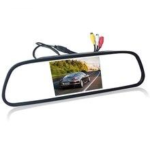 4.3 «4.3 дюймов TFT ЖК-дисплей Цвет автомобиль зеркало заднего вида монитор видео dvd-плеер аудио авто для автомобиля камера заднего вида