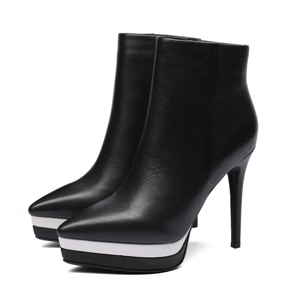 Arden Furtado 2018 wiosna jesień zimowe na wysokim obcasie 12 cm szpilki paski platformy czerwone kostki buty modne buty matin buty nowe w Buty do kostki od Buty na  Grupa 3