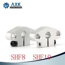 10pcs/lot Free shipping SHF8 8mm linear rail shaft support XYZ Table CNC Router 4pcs lot free shipping sk30 30mm linear bearing rail shaft support xyz table cnc router sh30a