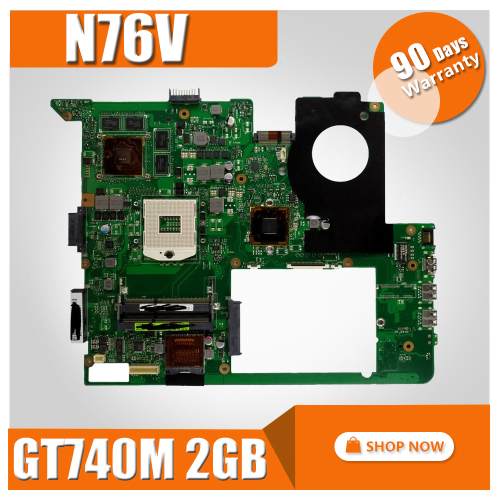 GT740M 2GB N76V laptop motherboard For ASUS N76V N76VJ N76VB N76VZ N76VM N76V REV:2.2 USB 3.0 fully tested mainboard kefu for asus n76vj n76vz laptop motherboard n76v mainboard rev 2 2 gt635 non integrated 100