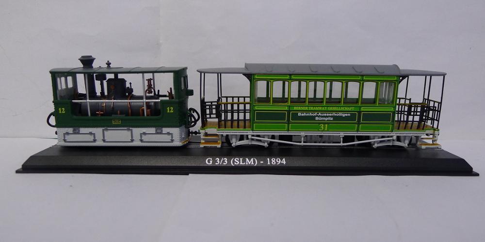 Atlas G 3/3 (SLM) 1984 Tram Vhicles 1/87 Diecast Model(China)