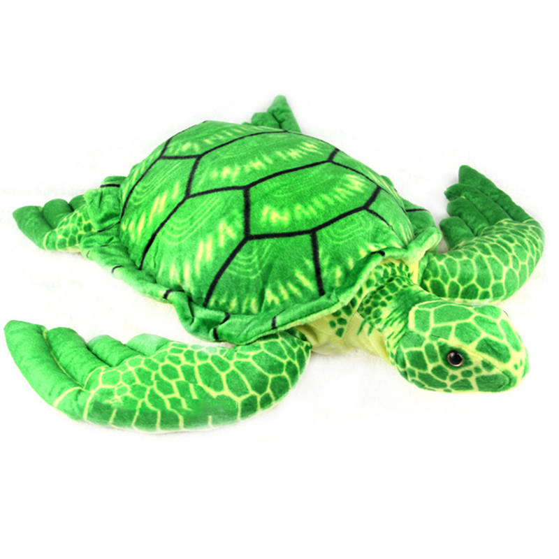 Ocean Creatures Pillow Plush Turtle Cushion Doll Cute Stuffed Simulative Toys for Baby Kids Birthdays Gifts 55*45CM/21.5*16.5 woodland creatures