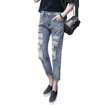 2018 Fashion Large Size Lady Jeans Femal