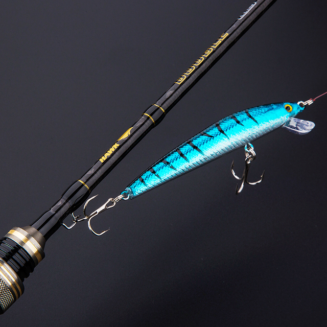 CU DOUBLE NEW 1.8m Lure Fishing Rod Fast Action UL/L Tips Carbon Spinning Rod Jigging Fishing rod 2 sections Fishing Tackle 4
