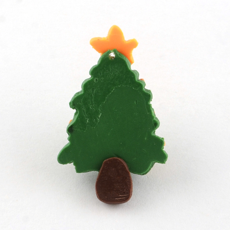 Polymer Clay Christmas Tree.Us 17 79 30 Off 100pcs Handmade Christmas Tree Polymer Clay Pendants Green Size About 30mm Long 19mm Wide 7mm Thick Hole 1mm In Jewelry