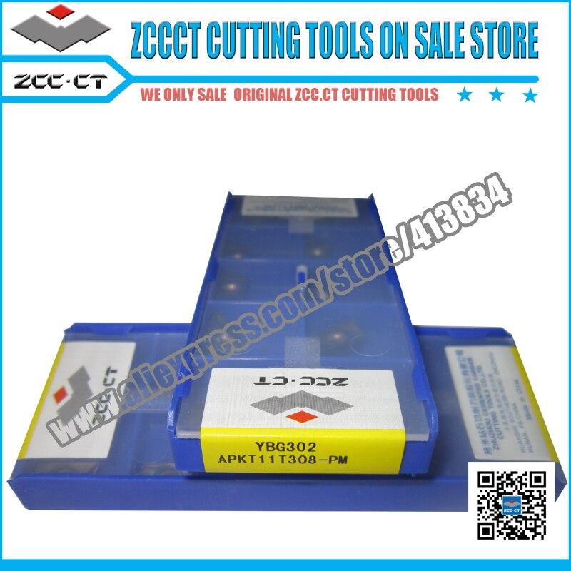 50pcs YBG302 APKT11T308 PM APKT11T308 APKT 11T308 pm ZCC CT Carbide CNC Milling tool face milling