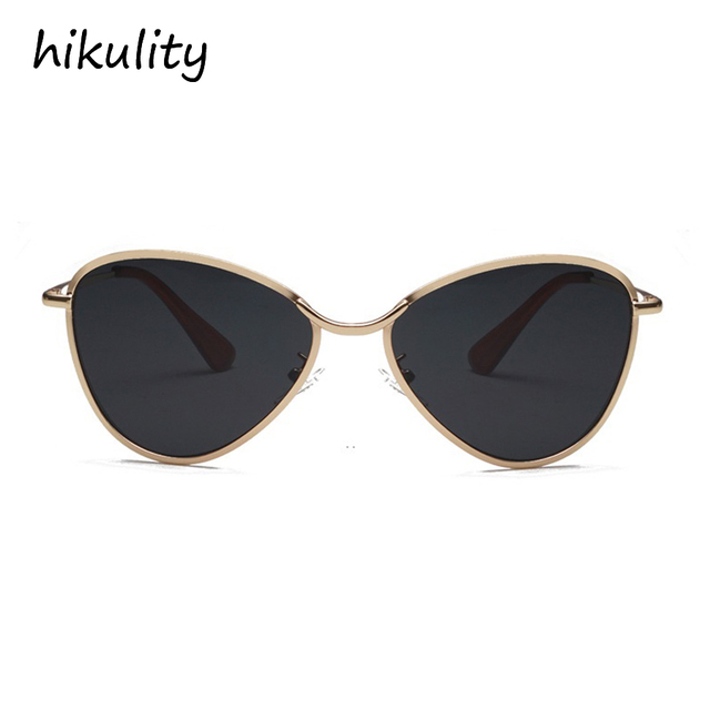 c94f3f7fd7 Luxury Vintage Cat Eye Sunglasses Women 2018 Brand Designer Butterfly  Shapep Ladies Shades Metal Cateye Sun Glasses for Men