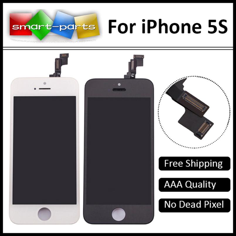Prix pour Pas de Pixels Morts Écran Noir LCD Pour iPhone 5S LCD Écran tactile Digitizer Assemblée Remplacement Pantalla Ecran