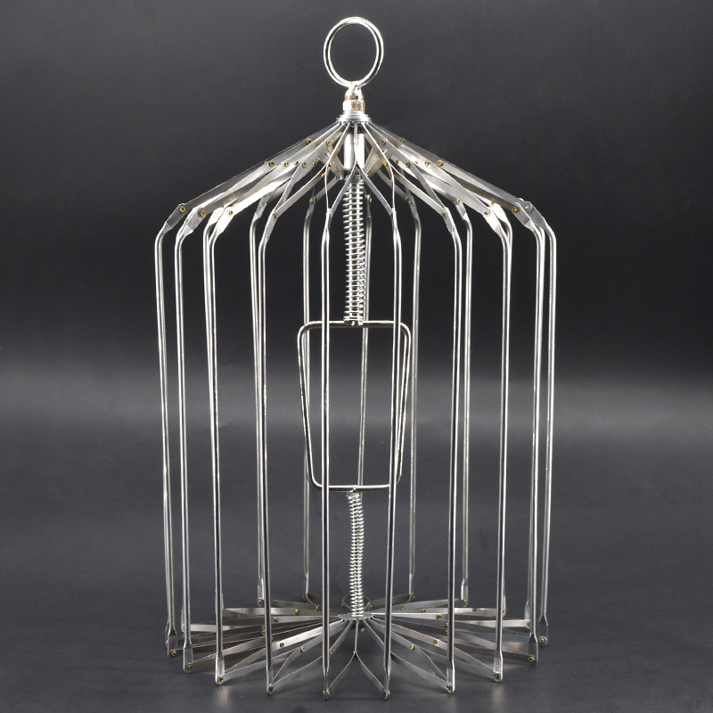 купить Silver Steel Appearing Bird Cage - Small Size (Dove Appearing Cage) Magic Tricks Magician Stage Illusions Gimmick Props по цене 1454.47 рублей