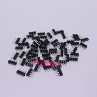1000pcs 4pin RGB connectors needle connector male to female for RGB led strip