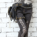 Steampunk skull Messenger shoulder bag gothic female bag personality 2016 new fashion men and women waist bag leg bag
