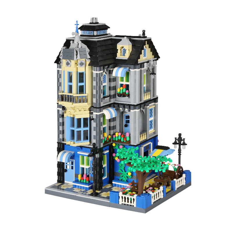 The Garden Coffee House Building Blocks City Architecture Street View Bricks Classic Model Gifts Toys Gifts