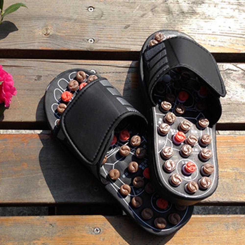 Клюкарски въртящи се обувки Сандал Рефлекс Масажни чехли Акупунктурна терапия Крак Здравословна китайска терапия Масажорна обувка за лятото