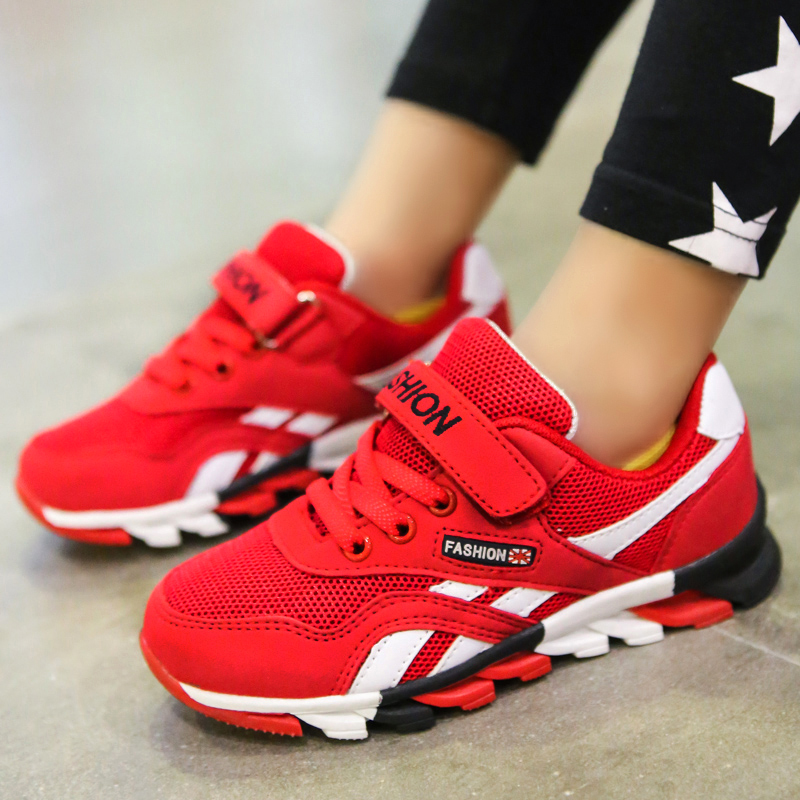 Cheap Children <font><b>shoes</b></font> boys sneakers girls sport <font><b>shoes</b></font> Athletic child students trainers Outdoor breathable kids Jogging <font><b>shoes</b></font> Red
