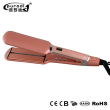 Sale wide plate infrared hot fast professional ceramic ionic flat iron hair straightener straightening irons lcd titanium plates