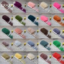 Högkvalitets fluffig strutsfjädrar trimmar tyg sidoband 1 meter lång DIY kläder tillbehör dekorativa tillbehör 8-11cm