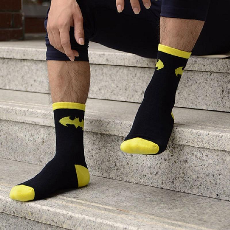 Avengers Marvel Cartoon Socks Batman Superman Joker Cosplay Fashion Sock Novelty Funny Casual Men Sock Spring Summer Socks SA-8