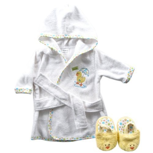 Luvable Friends 6 Designs Hooded Animal Modeling Baby Bathrobe with Baby Shoes 0-9 M Infant Bath Towels Baby Sleepwear & Robes (9)