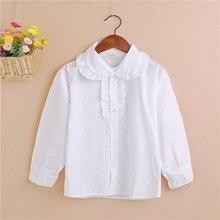 2-7Y Kid Baby Girls Boys Summer White Toddler Children Lapel Blouse Tops Baby Shirts