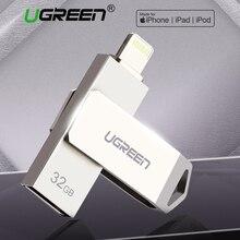 Ugreen USB แฟลชไดรฟ์ USB Pendrive สำหรับ iPhone XS MAX X 8 7 6 iPad 16/32/64 /128 GB USB Key MFI Lightning ไดรฟ์ปากกา