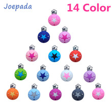 Joepada 10Pcs/lot Silicone Beads Baby Pacifier Clip Star Round Shaped Chain Dummy Holder Soother Nursing Teether