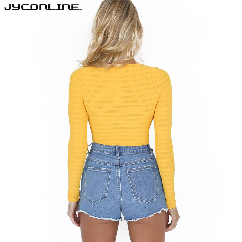 4b7e95a9f2 JYConline Transparent Long Sleeve Bodysuit Tops Women One Piece Bodysuit  Jumpsuit Female Overall Skinny Outfits Night Club Wear-in Bodysuits from  Women s ...