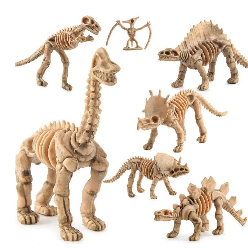 12 pçs/set Brinquedos Dinossauro Modelo de esqueleto de Dinossauro Simulação Set Mini Figura de Ação Jurassic modelo Coleção de Brinquedos