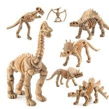 12 шт/компл игрушки динозавры набор моделей скелета динозавра