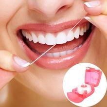 15 м одноразовая гигиеническая зубы чистыми зубная нить с Пластик чехол для путешествий зубная нить Уход за полостью рта зубочистки палка
