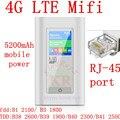 Разблокирована 4 г LTE 3 г Wi-Fi Беспроводной Маршрутизатор hotsport moblie Ключ e5776 мифи с RJ45 Порт 5200 мАч Питания Банк pk e5272 e589
