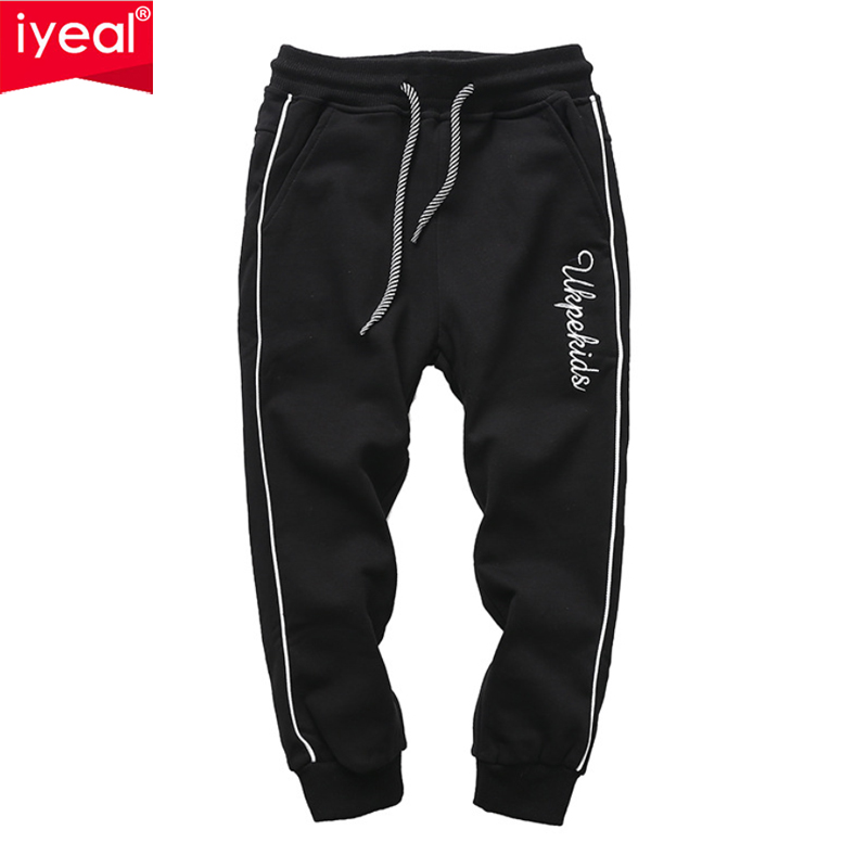 IYEAL Boy's Cotton Sweatpants Sports Long Casual Pants Boys School Pants 2018 Spring Autumn Casual Trousers Age 4 6 8 10 Years 1 8t kid stylish long trousers children solid color casual pants autumn spring sport joggers sweatpants boys girls bottom