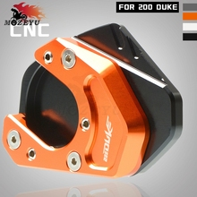 For KTM DUKE 200 duke200 2012 2013 2014 - 2018 Motorcycle Accessories Side Stand Enlarge Kickstand Extension Plate Pad CNC цена