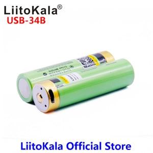 Image 5 - LiitoKala USB 34B 3.7V 18650 3400mAh Li ion USB şarj edilebilir pil LED gösterge ışığı ile DC şarj