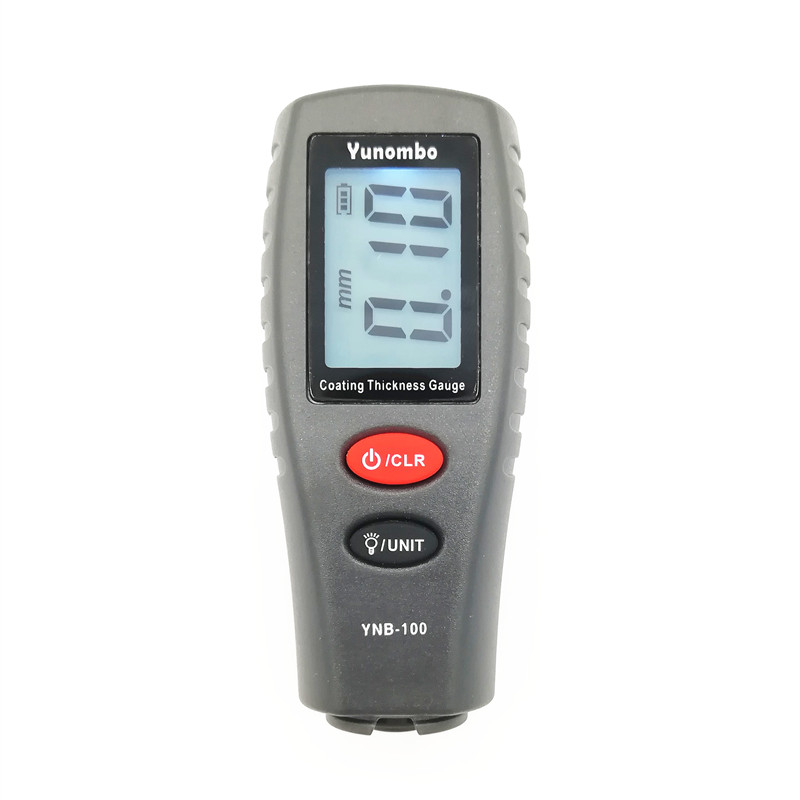 Yunombo YNB-100 Digital Car Paint Thickness Meter Thickness Tester Coating Thickness Gauge With English Russia Manual