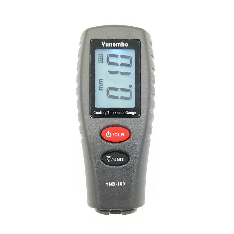 Yunombo YNB-100 Digital Medidor de Espessura Pintura Do Carro Espessura Tester Medidor de Espessura de Revestimento com o Inglês Manual Rússia