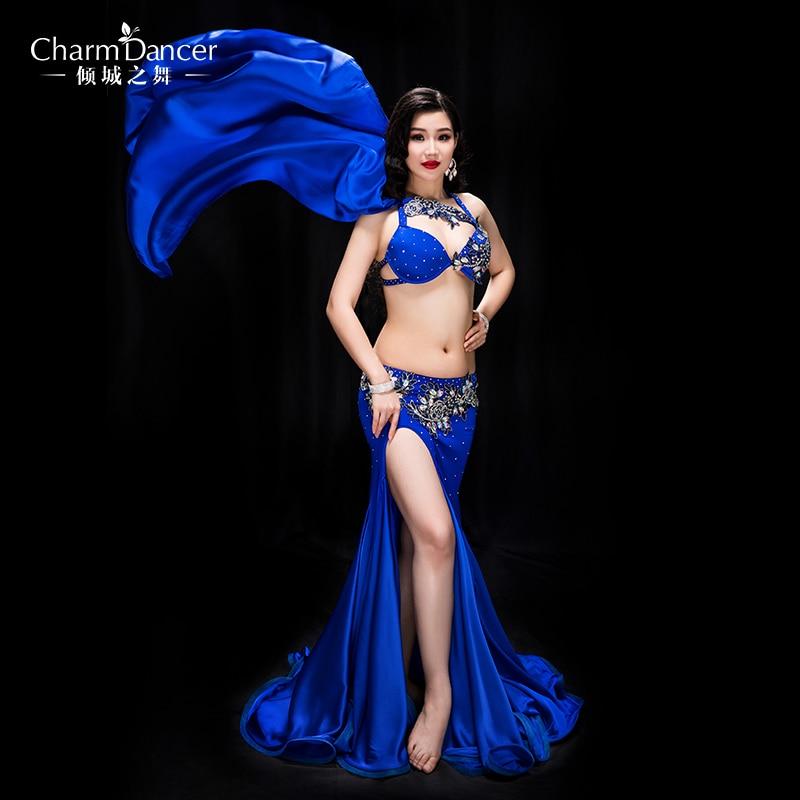 YC041 Belly Dancing Women spandex and silk satin belly dance costume set girls  belly dance