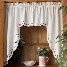 Roman Curtain Cotton Cabinet Curtain Retro Hollow Hem Christmas curtain Triangular Curtain for Kitchen Door