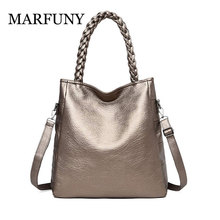 High Quality Leather Large Pocket Casual Handbag Womens Tote Female Over Shoulder Bag Capacity