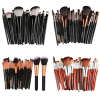 22 Pcs Makeup Brush Makeup Eyeshadow Soft Synthetic Hair Make Up Toiletry Kit Beauty Professional Cosmetic