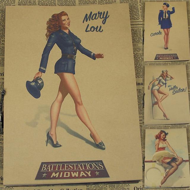 Sexy pin up girls de La Segunda Guerra Mundial vintage bar complejo ...