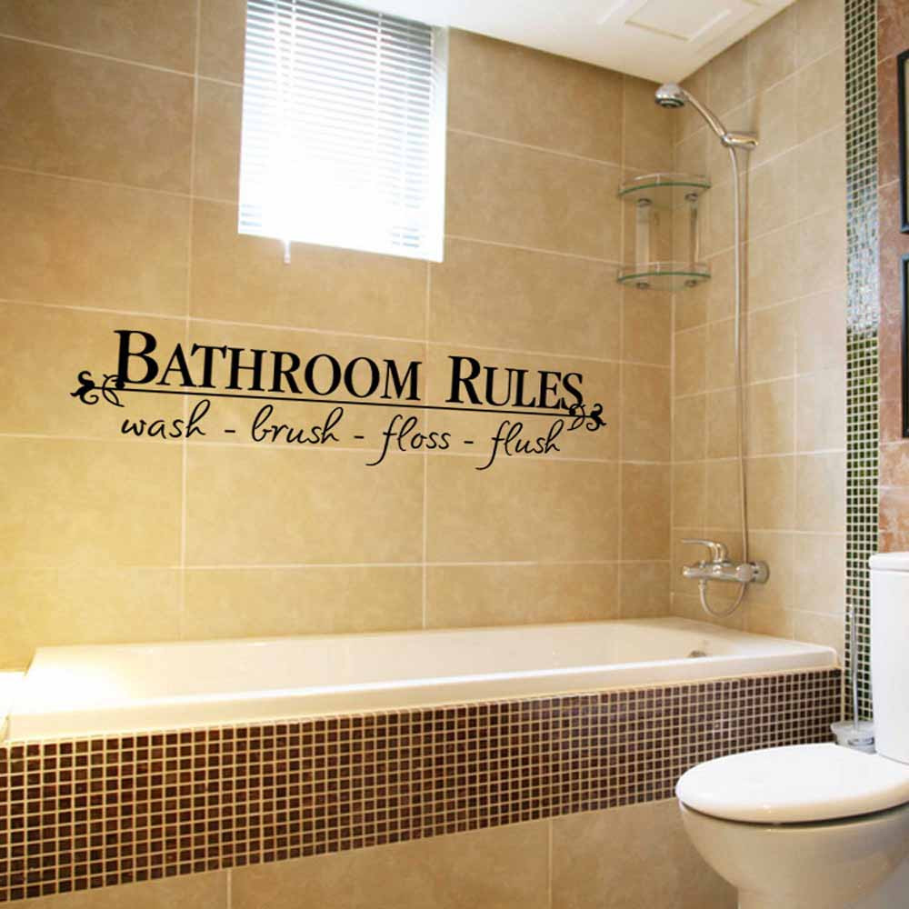 Removable DIY Wall Sticker Mural Home Decal Decor For Bathroom wall ...