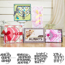 Huge Alphabet Frame  Metal Cutting Dies Stencils for DIY Scrapbooking Photo Album Decorative Embossing Paper Card Crafts Die Cut
