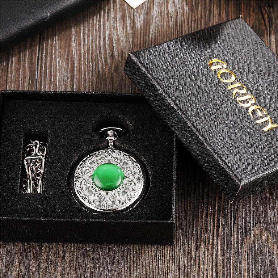 Mulheres Relógio Fob Cadeia gemstone Imitar reloj