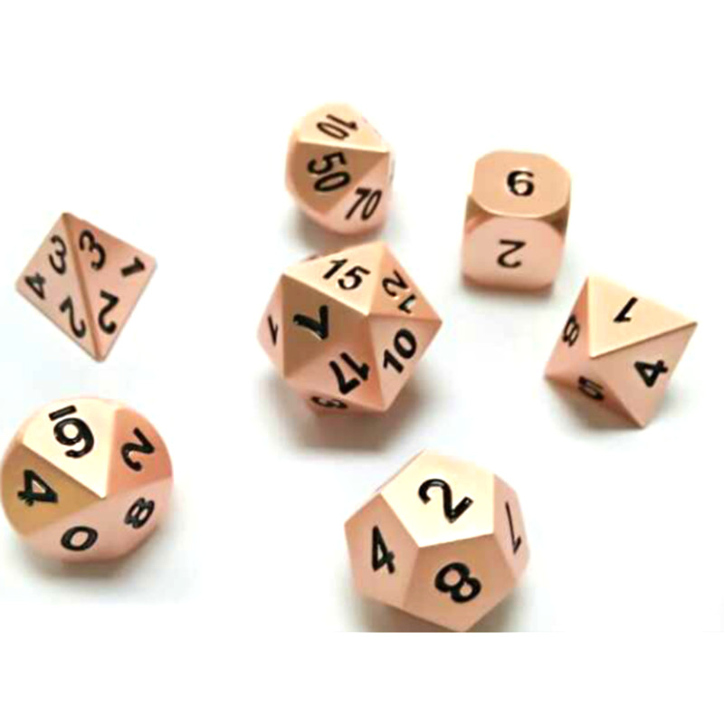 1 Set Shiny <font><b>Metal</b></font> Dice 7 Dices D4 D6 D8 D10 D% D12 <font><b>D20</b></font> For Board Games fun image